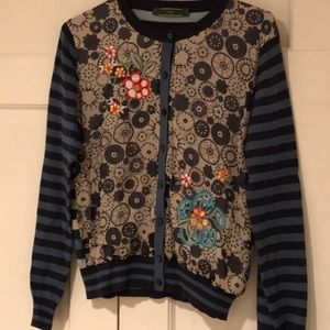 Oilily ladies floral stripe sweater